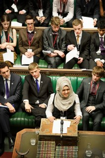 Sumaiya Karim 16 from Wokingham opens final debate in Commons chamber on 'A Curriculum to Prepare us for Life'. By UK Parliament, on Flickr