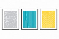 Modern Living Room Art Prints Posters - Set of 3 / Dining ...