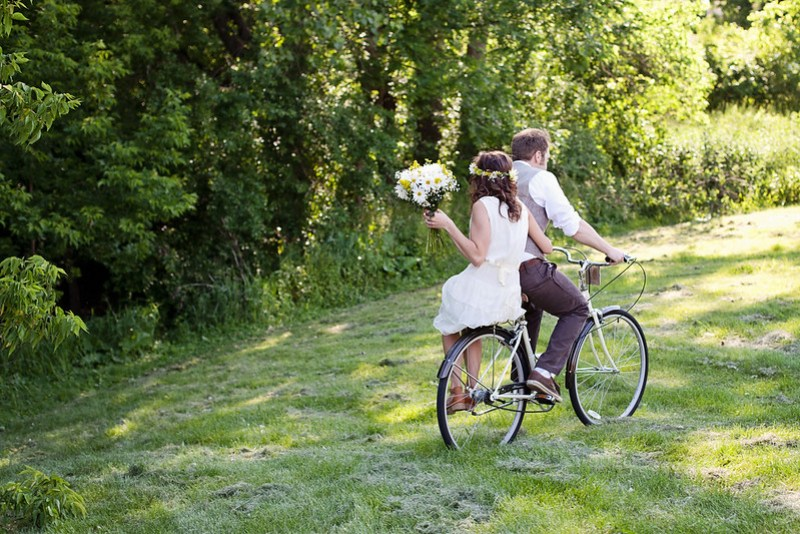 Fancy Romantic Wedding Biking