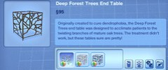 Deep Forest Trees End Table