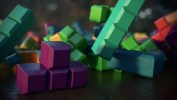 Tetris Collision, Texturing, Lighting, and DOF Test2