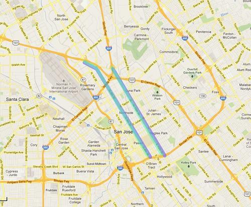San Jose Downtown shortcuts