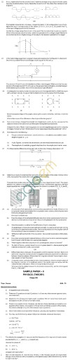 CBSE Board Exam 2013 Class 12 Sample Question Paper for Physics