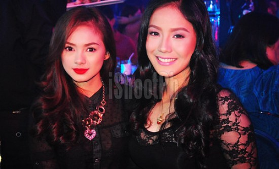 iShootPh captures the lovely ladies Eula Caballero (left) and Ritz Azul (right) at Whitespace bar in Makati.