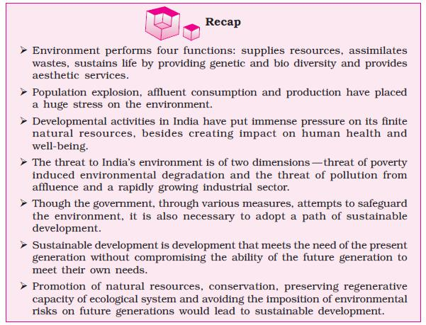 NCERT Class XI Economics: Chapter 9 – Environment and Sustainable Development