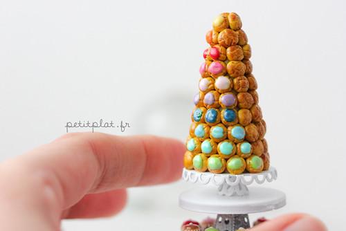 Rainbow Croquembouche - Miniature Food