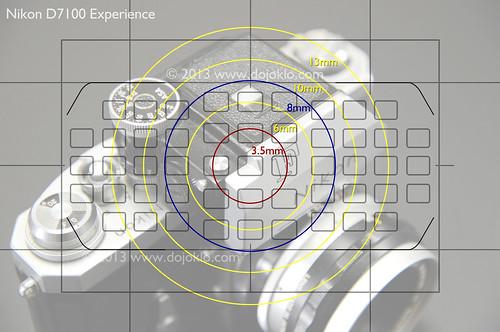 Nikon D7100 autofocus viewfinder 1.3x crop metering spot center weighted af autofocus points
