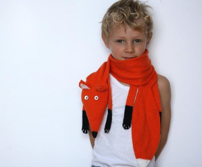 Kids Fox Knit Scarf