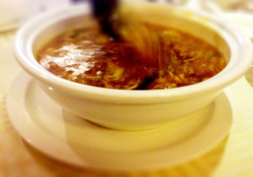 Shark fin & abalone soup
