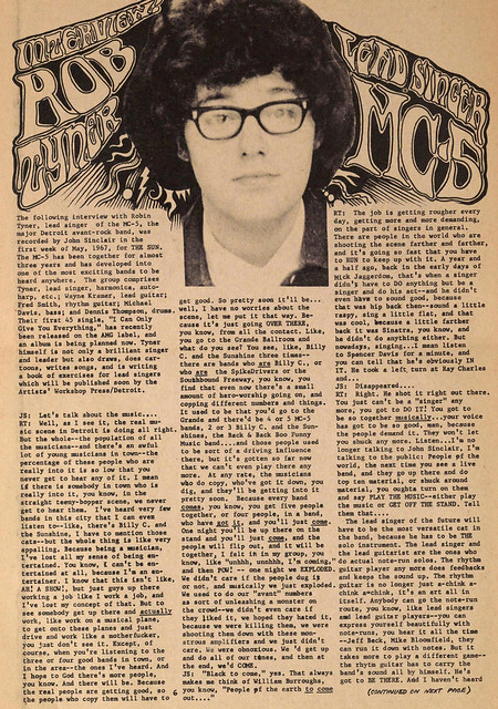 Rob Tyner - MC5 Lead Singer Interview 1967 (1)