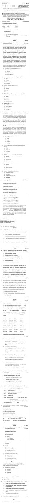 CBSE Class X Previous Year Question Papers 2011: English Communicative