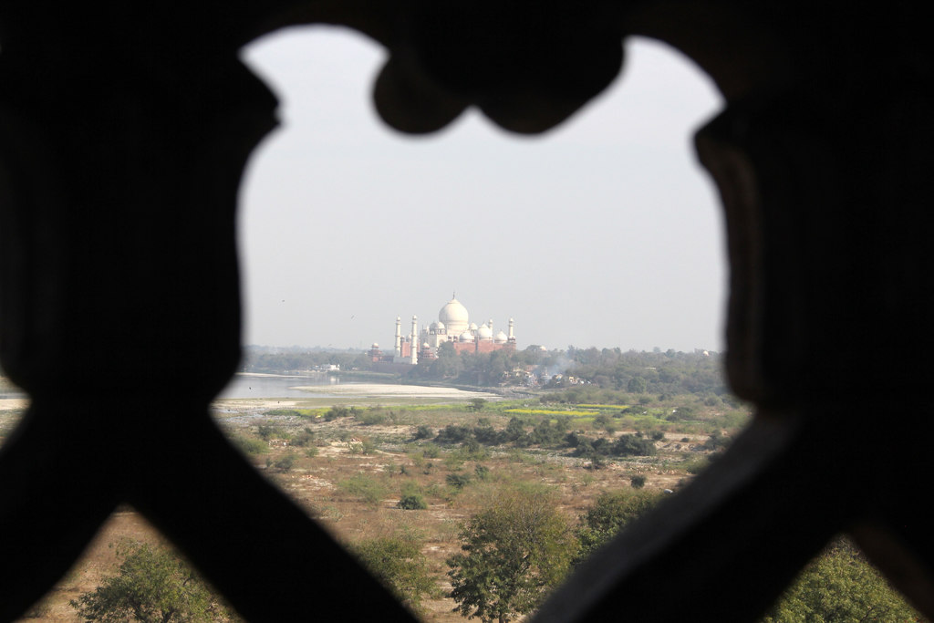 View of the Taj Mahal from the window