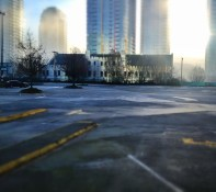 Early Morning Empty Parking Lot