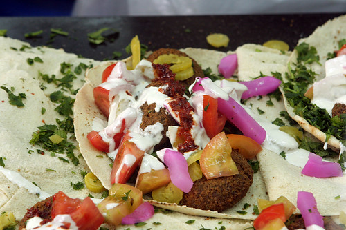 falafel with harissa