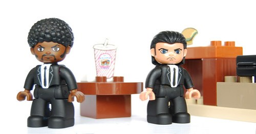 Fake LEGO DUPLO Pulp Fiction figures