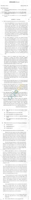 CBSE Board Exam 2014 Class 12 Sample Question Paper   English Core