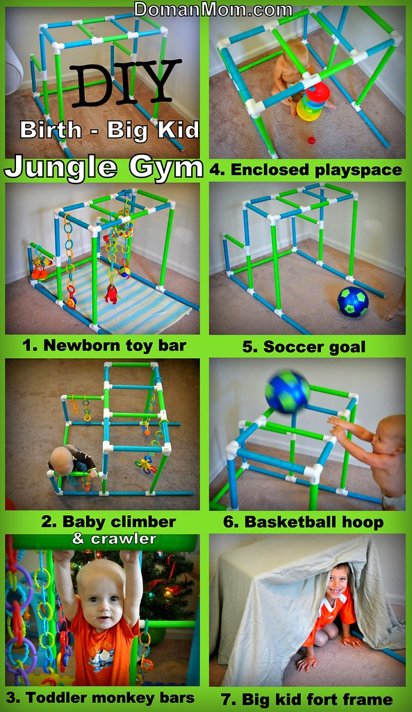 DIY Birth to Big Kid Multi-Purpose Jungle Gym Tutorial