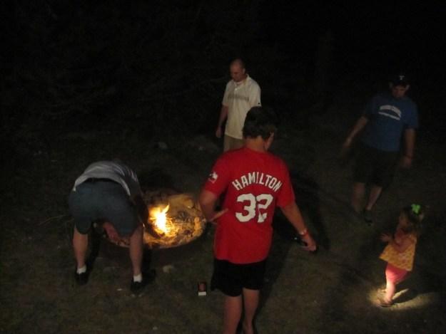 bonfire roasting marshmellows frio river neals lodges