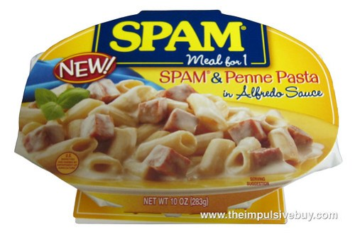 SPAM Meal for 1 SPAM & Penne Pasta in Alfredo Sauce
