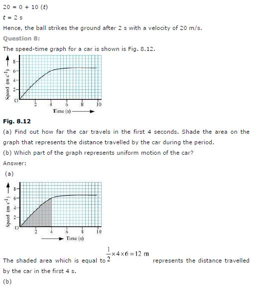 CBSE Solutions Class 9th Science Chapter 8 Motion