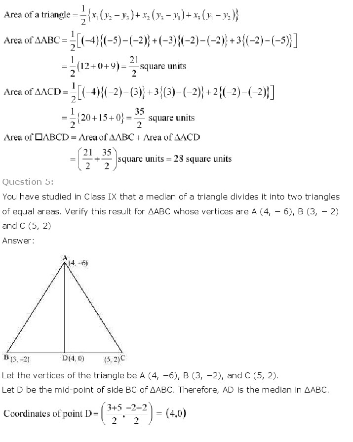 NCERT Solutions for Class 10th Maths: Chapter 7   Coordinate Geometry Image by AglaSem