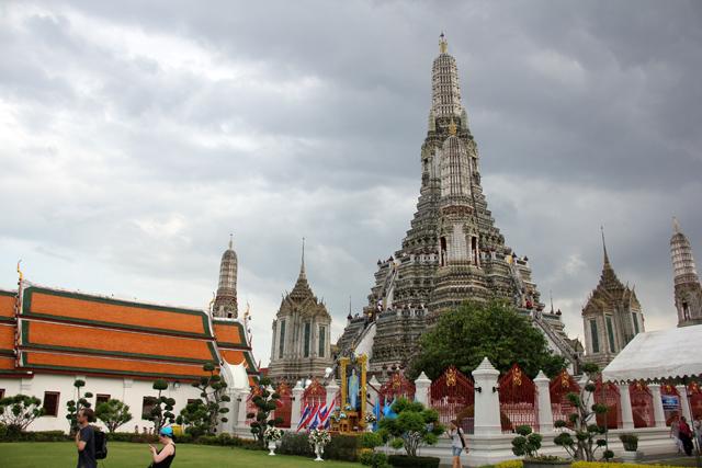 At the base of Wat Arun