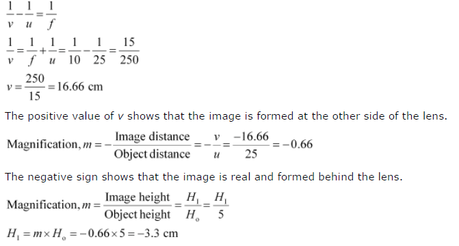 NCERT Solutions for Class 10th Science: Chapter 10 Light Reflection and Refraction