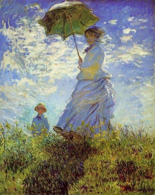 p Claude Monet (1840-1926)_  The Walk, Woman with a Parasol 1875