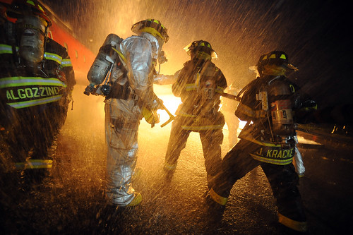 NY National Guard Firefighters training