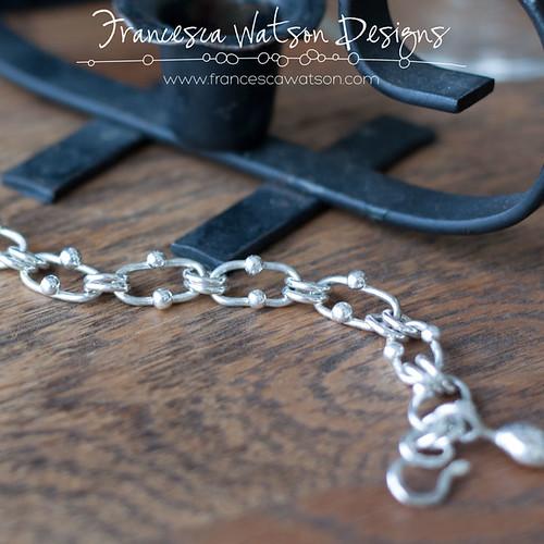 Studded Argentium Bracelet by Francesca Watson Designs