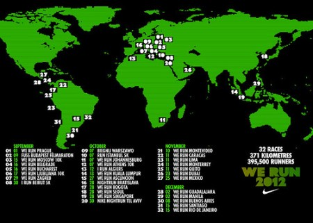 We Run 2012 Fechas (calendario)