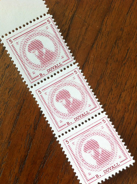 Bill Duvall – Official Slow Mail Stamp