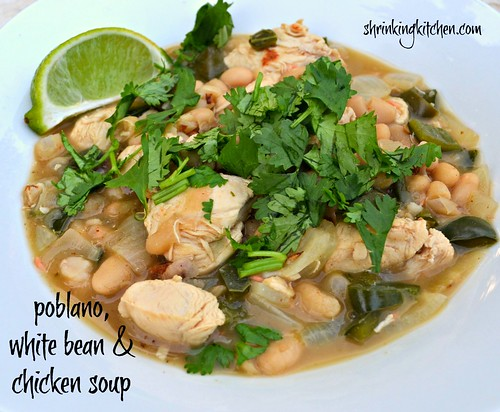 poblano, white bean & chicken soup