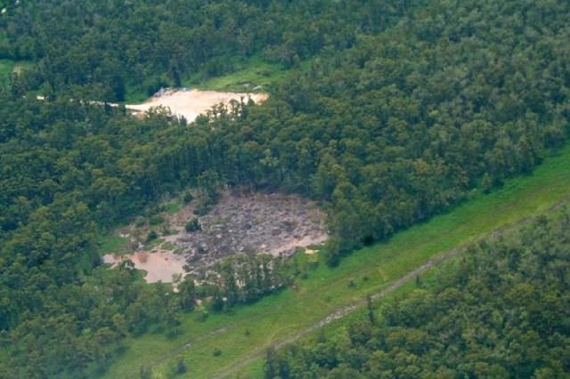 Sinkhole near Bayou Corne