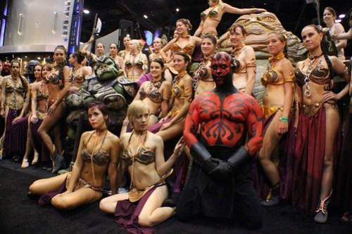 Slave Leias and Darth Maul - Star Wars Celebration VI