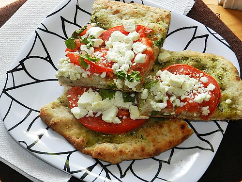 Pesto, Tomatoe & Feta Pizza (4)