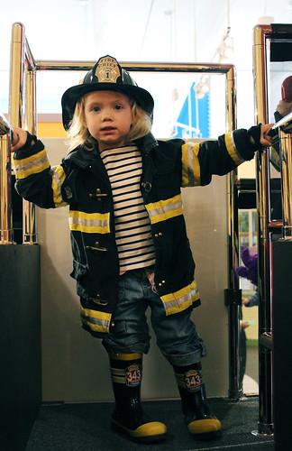 Dottie is a firefighter