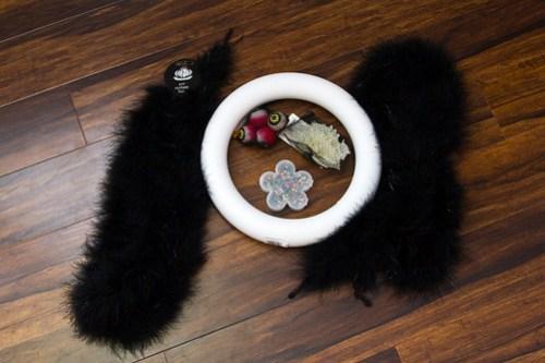 feather halloween wreath