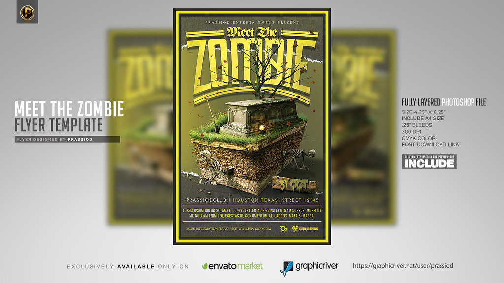 Meet The Zombie Flyer Template DOWNLOAD PSD HERE  bitly/\u2026 Flickr