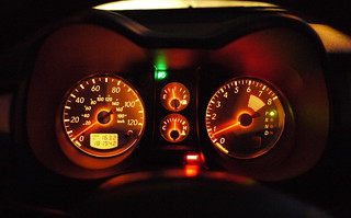 keithmobile instrument cluster at night