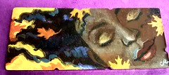 <p>Original art on a Kenshi bar by painter Cindy Rizza. A one of a kind bar. SOLD.</p>