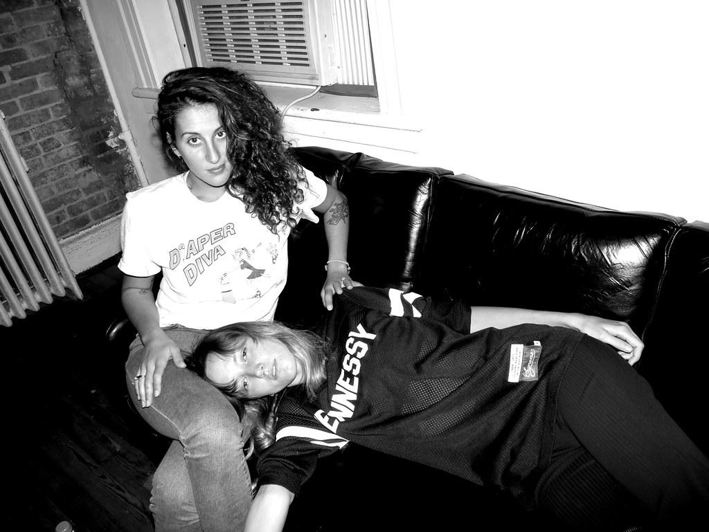 EMILIE KAREH and RACHEL CHANDLER at the Purple Office, New York. Photo Olivier Zahm