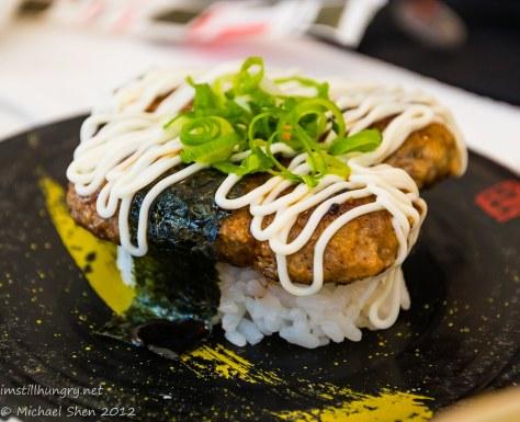 Takumi hamburger sushi