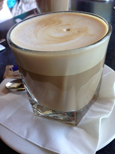 Latte at Bunkers Beach Cafe