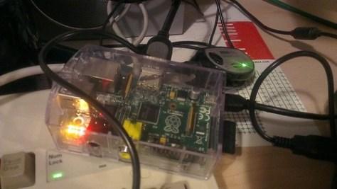 My XBMC RaspberryPi with FM Transmitter