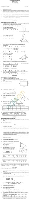 CBSE Board Exam Sample Papers (SA1): Class X   Mathematics Image by AglaSem