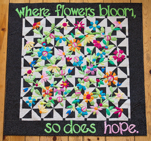 8326868333 6a1d26b9e6 Where Flowers Bloom    Finished quilt beauty shots