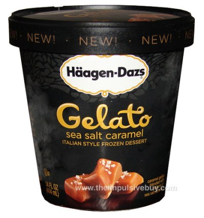 Haagen Dazs Sea Salt Caramel Gelato