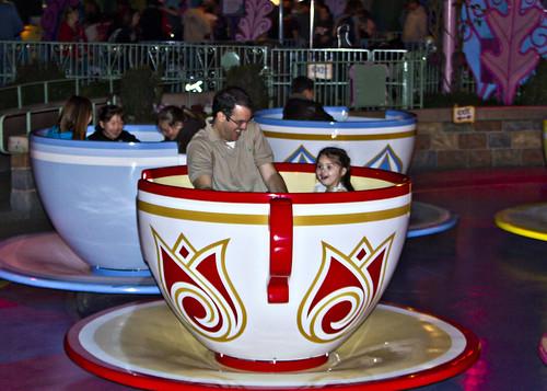 on the teacups