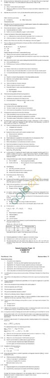 CBSE Board Exam 2013 Class 12 Sample Question Paper for Chemistry